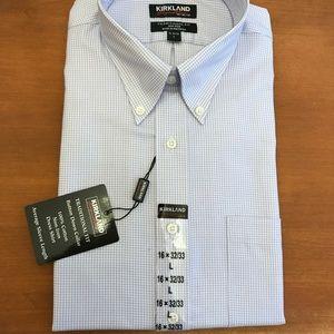 NWT Kirkland Dress Shirt Traditional Fit Large